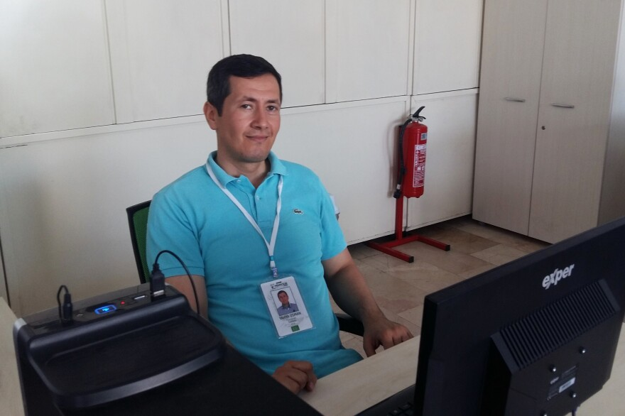 Yahiya Osman, 33, a Syrian refugee who's worked for the Istanbul municipality for four years, obtained his work permit two weeks ago. Osman says it was worth asking his work supervisor to sponsor him for a work permit because it makes him eligible for private health insurance, a state pension and worker's compensation.
