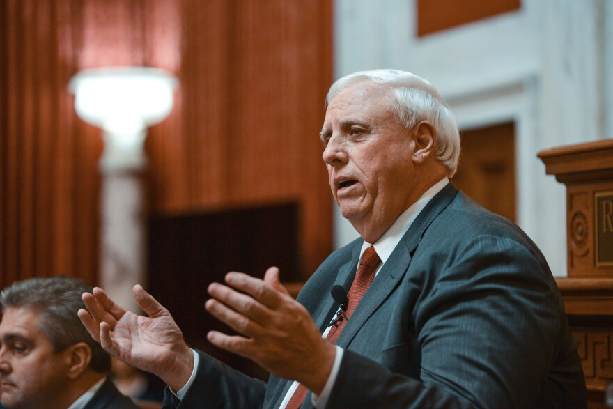 Gov. Jim Justice, R. W.Va., delivers his annual State of the State speech on Wednesday, Jan. 9, 2019, in Charleston, W.Va.