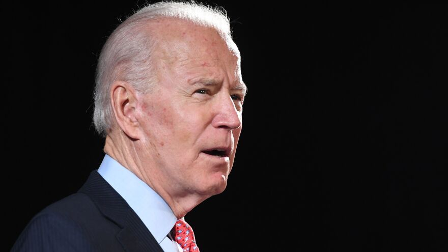 Former Vice President Joe Biden, pictured on March 12, is facing backlash for comments that his campaign says were a joke about black support for him versus President Trump.