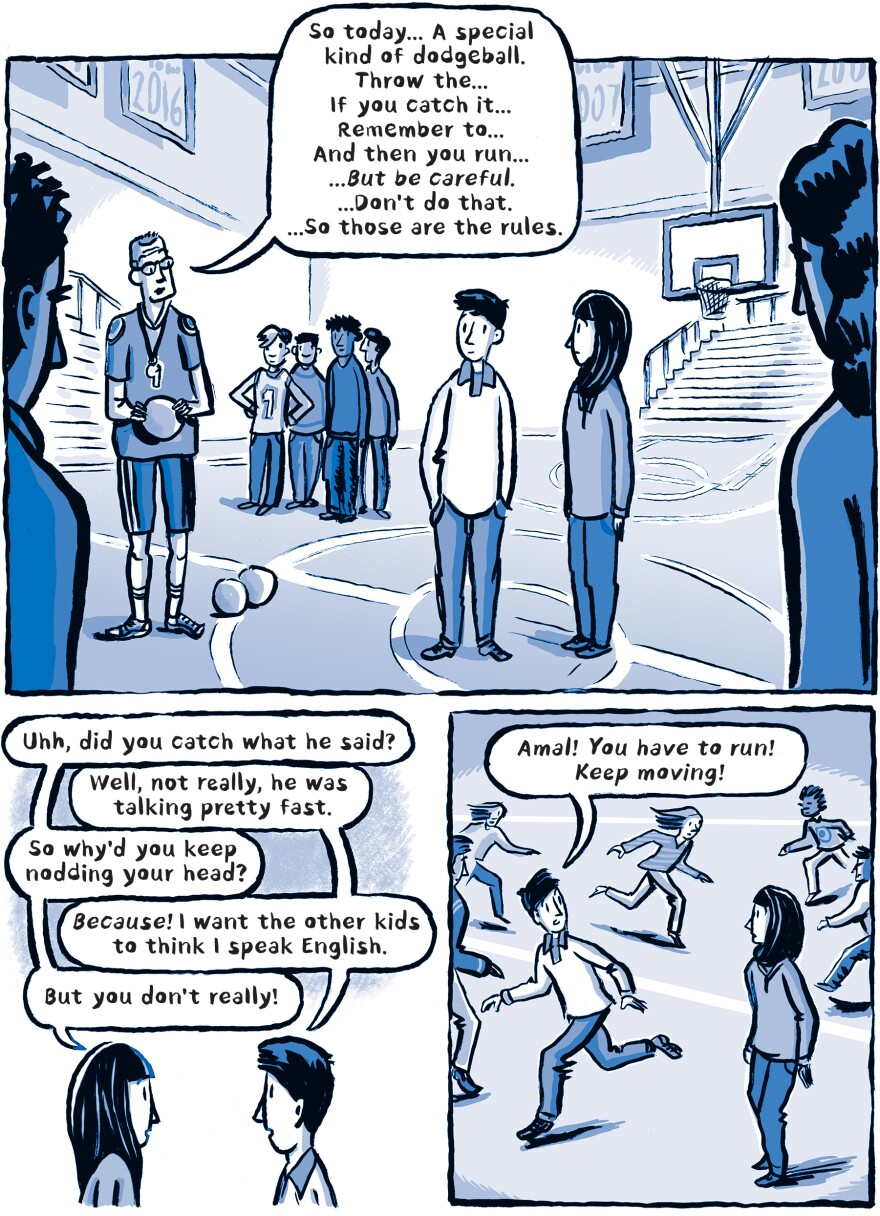 A page from <em>Welcome to the New World. </em>