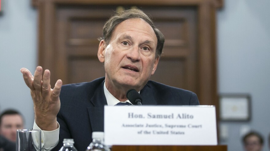 """I think it is an indisputable statement of fact,"" says Justice Samuel Alito. ""We have never before seen restrictions as severe, extensive and prolonged as those experienced for most of 2020."" Alito is seen here during a congressional hearing last year."