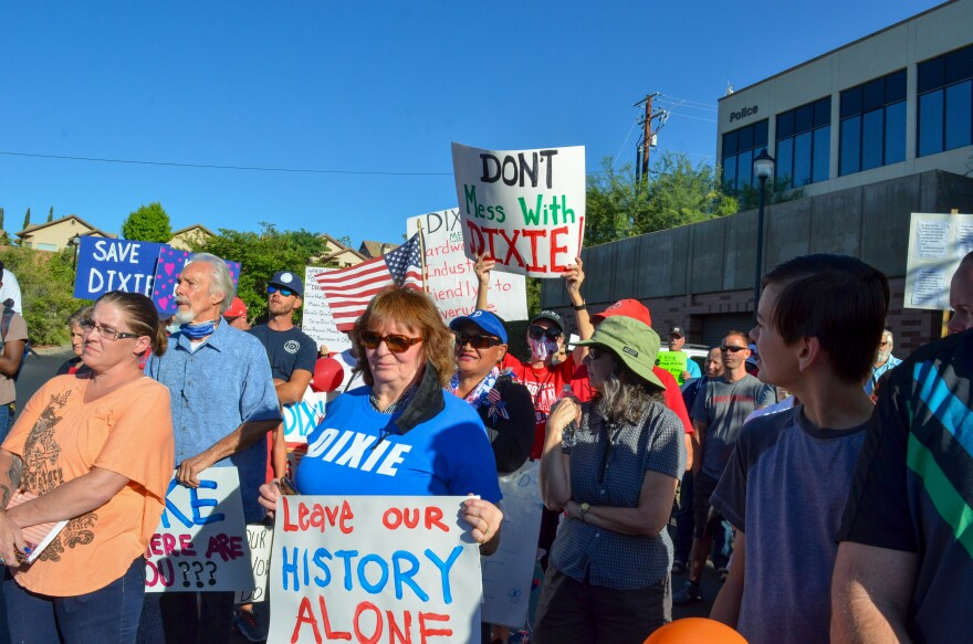 A photo of protestors.