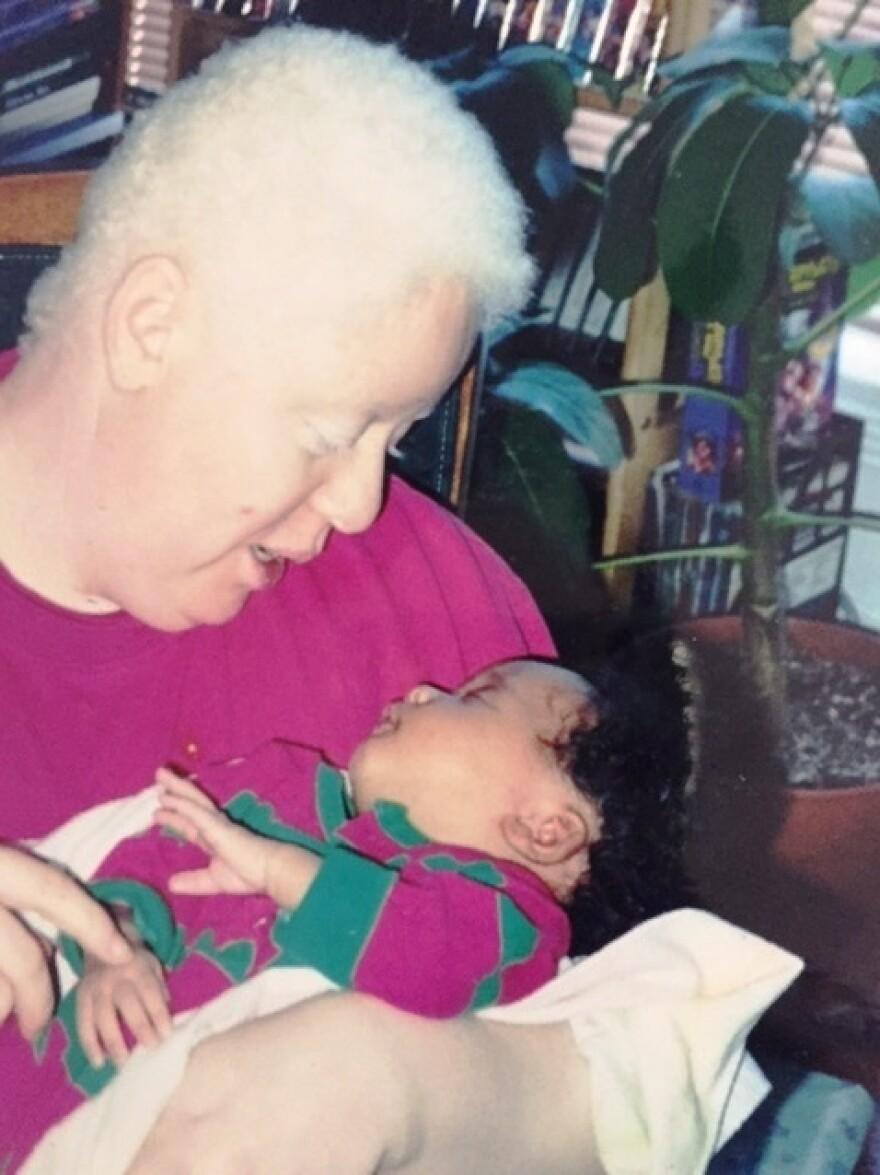 Natalie Devora with her daughter, Jewel Devora, as a baby.