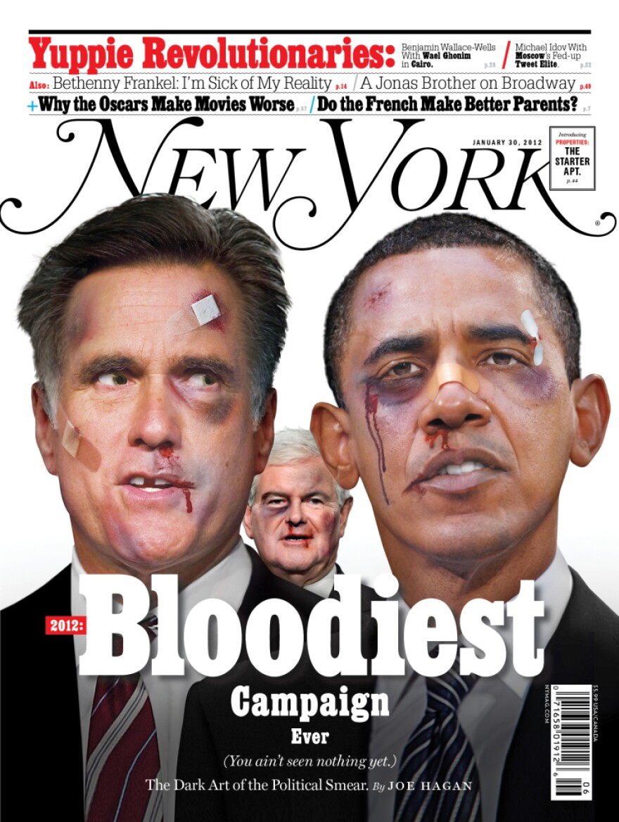 """Joe Hagan's <a href=""""http://nymag.com/news/features/negative-campaigning-2012-1/"""">cover story</a> in the Jan. 22 edition of <em>New York Magazine</em> details why the 2012 election will be the """"most negative in the history of American politics."""""""