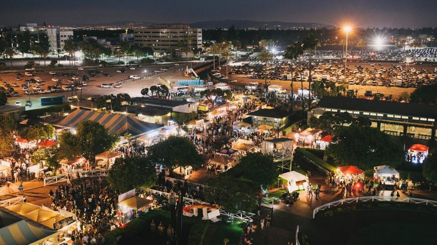 A view of 626 Night Market in Santa Anita Park.