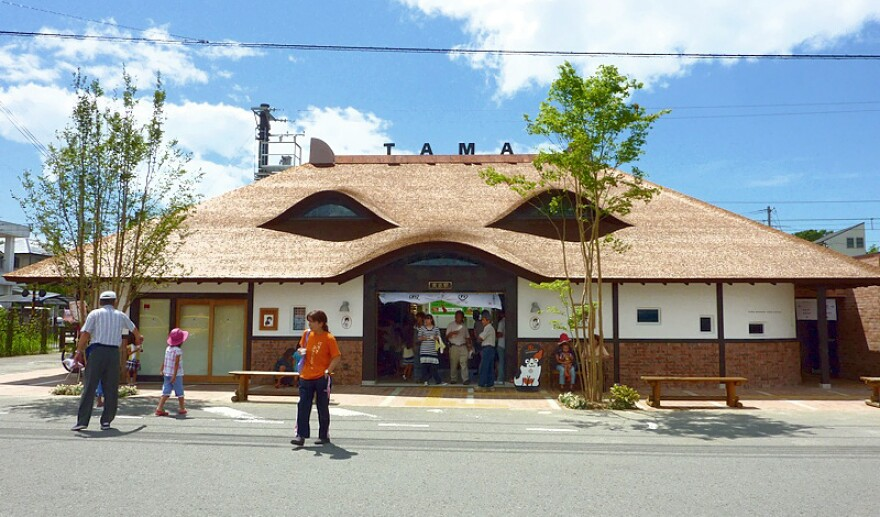Kishi Station is Tama-themed, too.