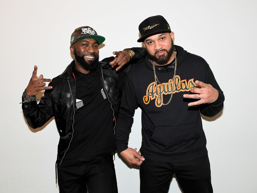 Desus Nice, left, and The Kid Mero attend the FYC Event for VICELAND's <em>Desus & Mero</em> at the Saban Media Center on April 20, 2018 in North Hollywood, Calif. The duo has launched a new program on <em>Showtime.</em>