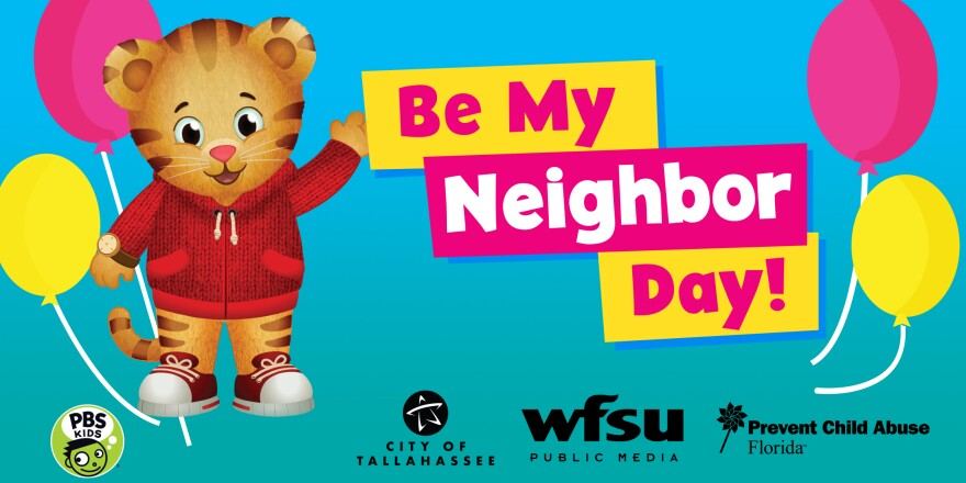 be my neighbor day logo and daniel tiger character