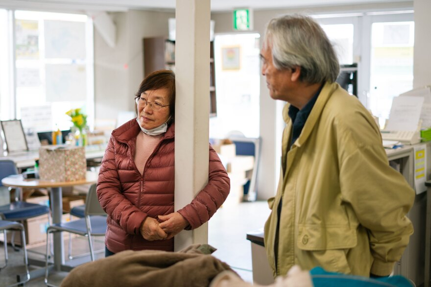 Tomoko and Takenori were forced to evacuate Minamisoma after the disaster, but after five years, they returned to reopen Tomoko's family inn.