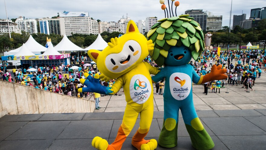 "The 2016 Olympic and Paralympic mascots are named for iconic Brazilian musicians: Vincius (for Vincius de Moraes) and Tom (for Antonio Carlos ""Tom"" Jobim), respectively."