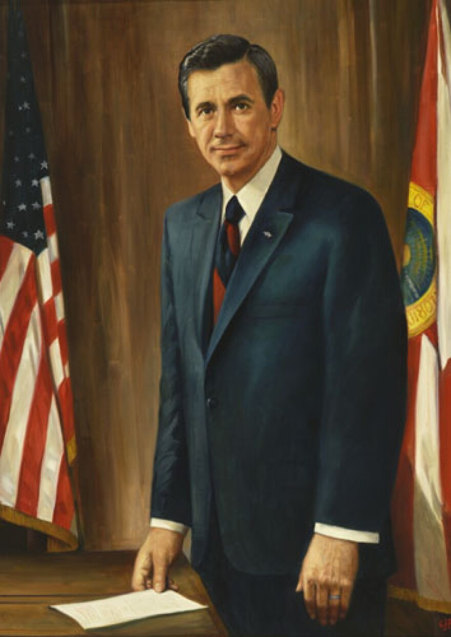 Governor Reubin Askew's official portrait.