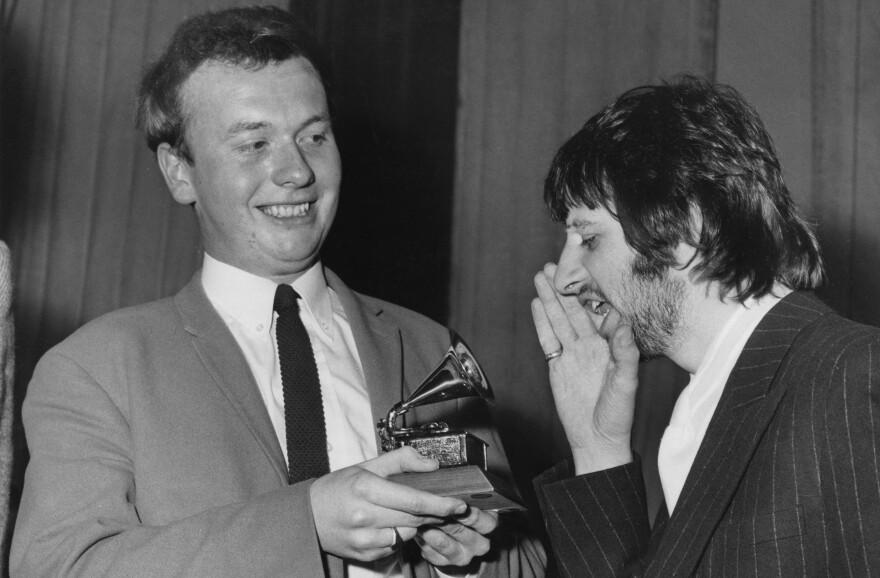 Geoff Emerick with Ringo Starr in 1968.