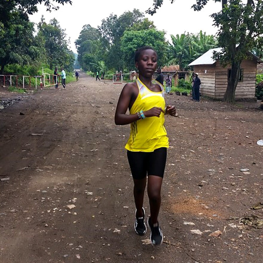 Beatrice Kamuchanga, 19, will be running in Rio for the Democratic Republic of Congo team.