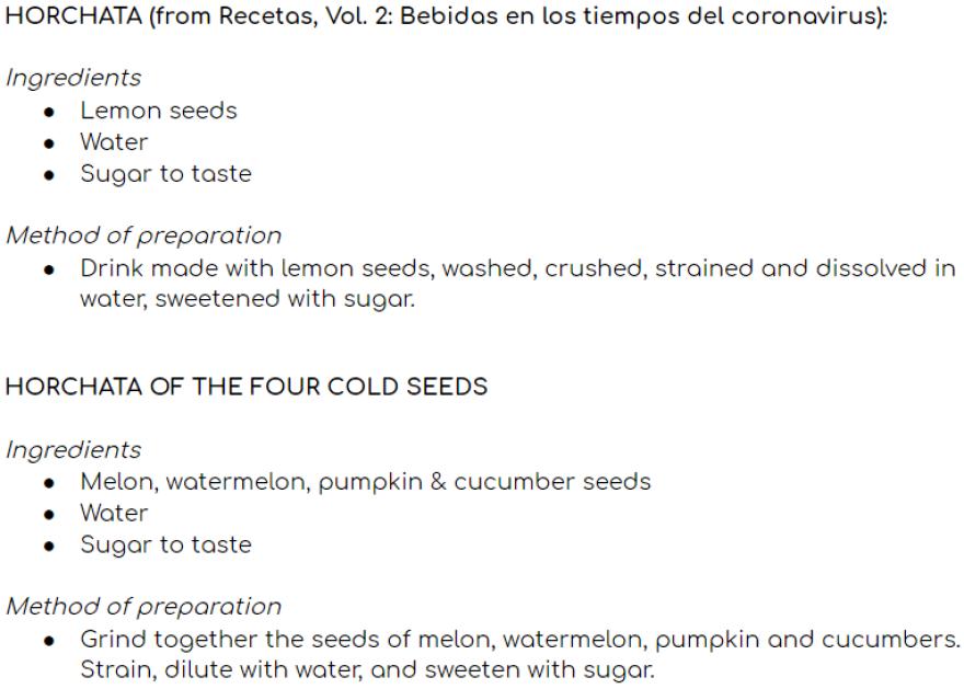 Two unique recipes for horchata.