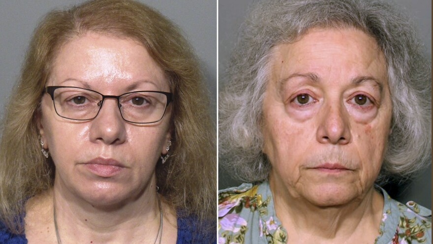 Joanne Pascarelli (left) and her sister, Marie Wilson (right), have each been charged with one count of first-degree larceny. Investigators say the New Canaan, Conn., schools where they worked lost a combined $478,588 in lunch money between 2012 and 2017.