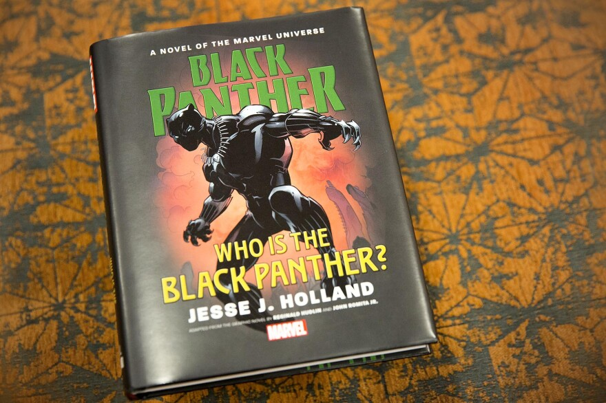"""""""Who is the Black Panther?"""" by Jesse J. Holland. (Robin Lubbock/WBUR)"""