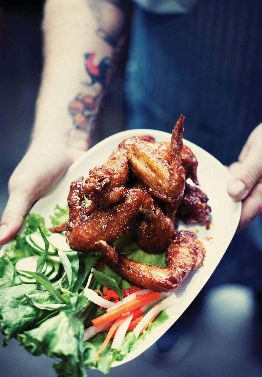 Pok Pok's most popular and addictive dish is Ike's Vietnamese fish sauce wings, according to Karen Brooks, a food critic at <em>Portland Monthly</em>.