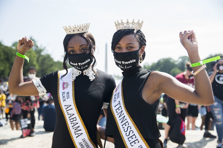 Left, Kaitlin Bryant is Miss Black Alabama International Ambassador 2020- 23-years-old. Right, Bryhana Johnson is Miss Black Tennessee International Ambassador 2020, 26-years-old.
