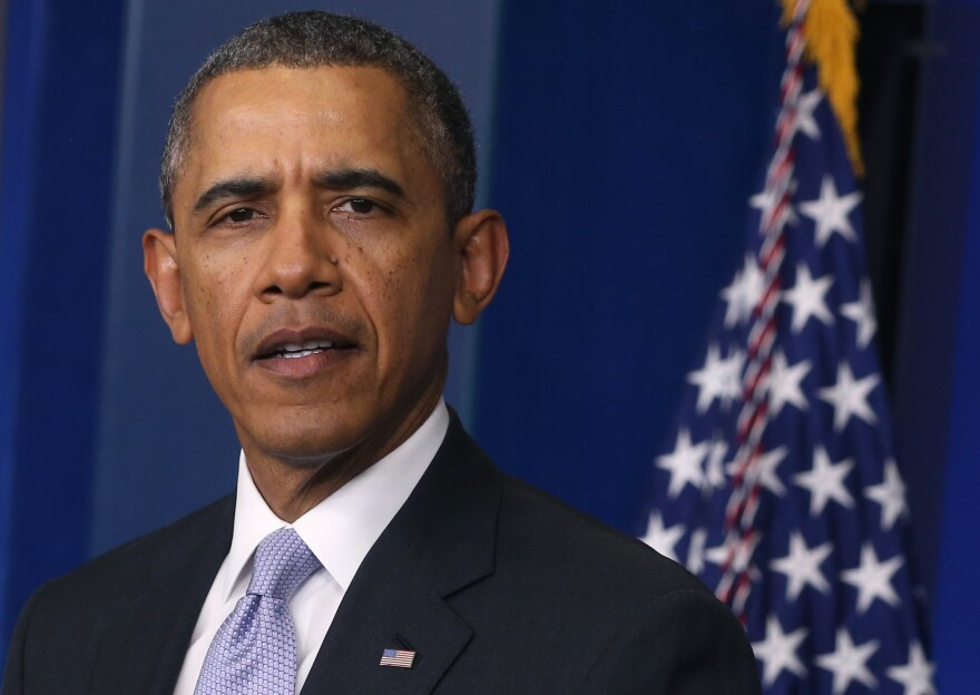 """President Obama spoke about the Ukraine crisis Friday afternoon, saying, """"The United States will stand with the international community in affirming that there will be costs for any military intervention in Ukraine."""""""