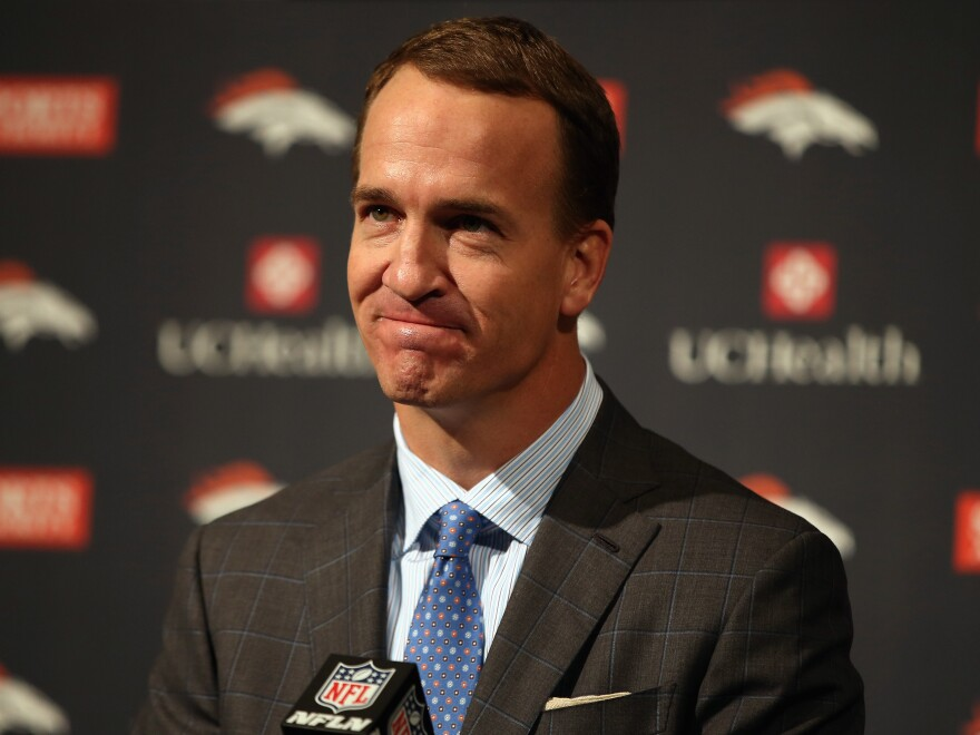 Denver Broncos quarterback Peyton Manning announces his retirement from the NFL on Monday in Colorado.