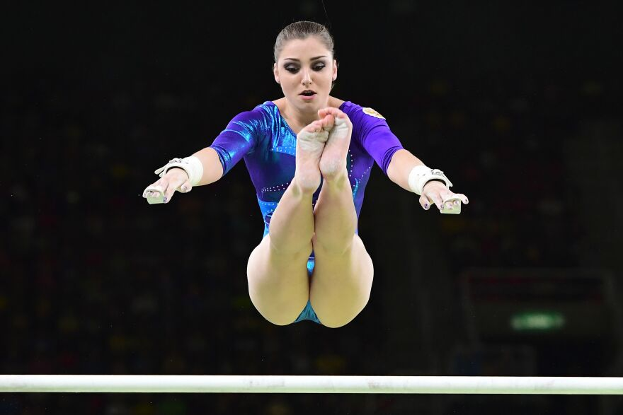 Russia's Aliya Mustafina earned the bronze medal for the women's all-around final.
