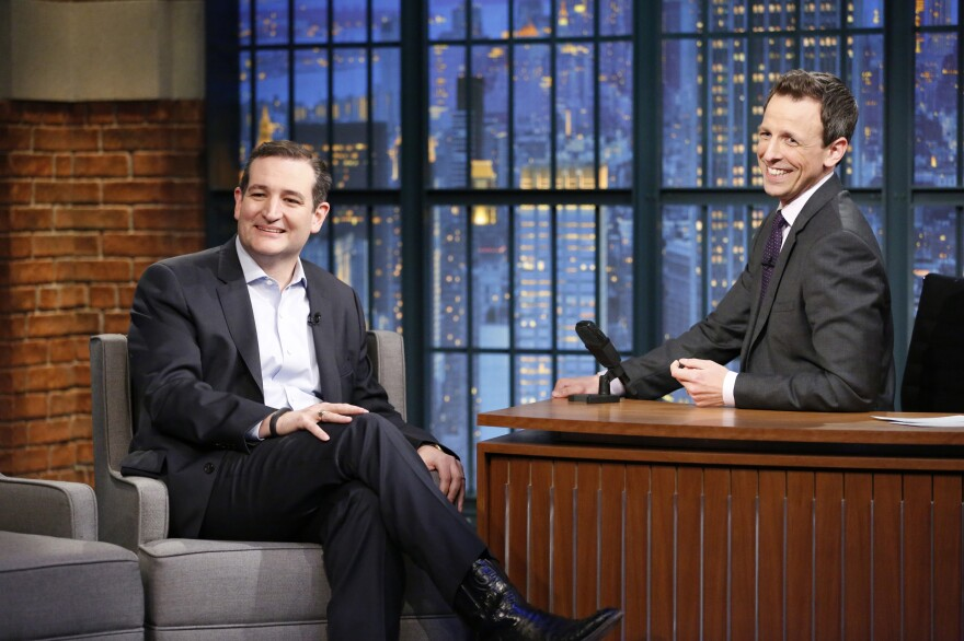 """""""I thought Ted Cruz was a lot of fun,"""" <em>Late Night</em> host Seth Meyers said of the senator's March interview on his show."""