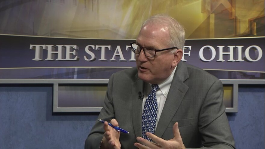 """Dr. Mark Hurst, appearing on """"The State of Ohio"""" as the director of the Ohio Department of Drug Addiction and Mental Health Services in 2018."""