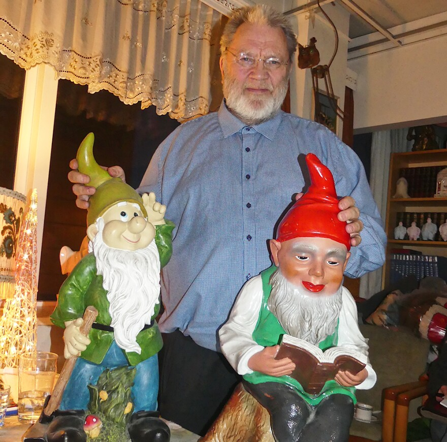Headmaster Magnus Skarphéðinsson of  Reykjavik's The Elf School. (Karyn Miller-Medzon/Here & Now)