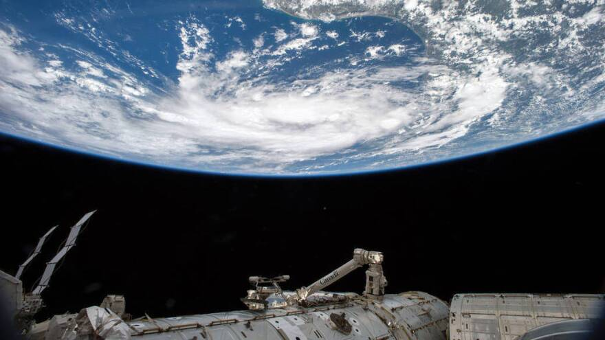 Tropical Storm Bill as seen from the International Space Station.