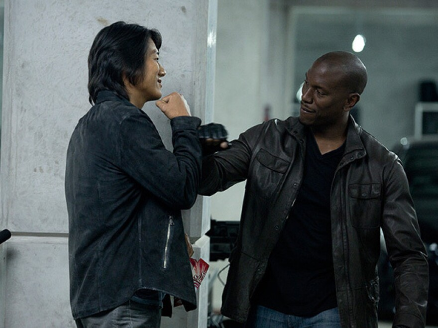 <em>Fast & Furious 6 </em>-- starring Sung Kang (left) as Han and Tyrese Gibson as Roman — is director Justin Lin's fourth movie in the franchise.