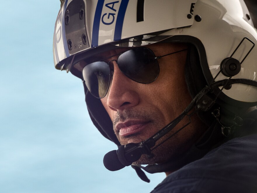 Dwayne Johnson plays a Los Angeles fire department helicopter pilot in the film.