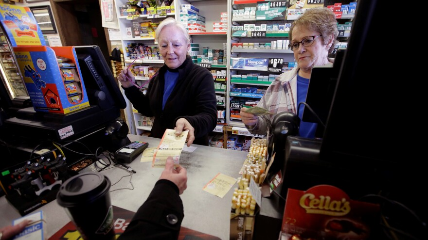 File photo of non-Florida Lotto lottery tickets being sold.