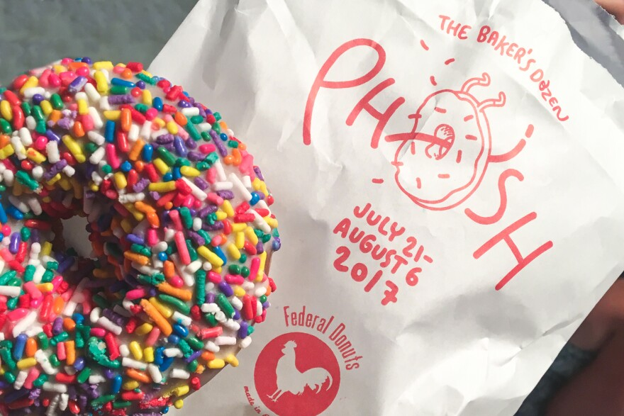 """Federal Donut's """"Jimmies"""" Donut, featured on night 8 of Phish The Bakers Dozen."""