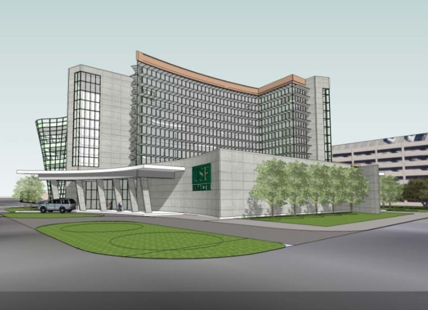 Architects' rendering of proposed USF Morsani College of Medicine