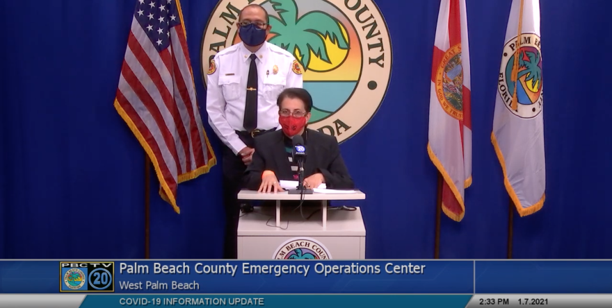 Palm Beach County Health director Dr.Alina Alonso at the Emergency Operations Center