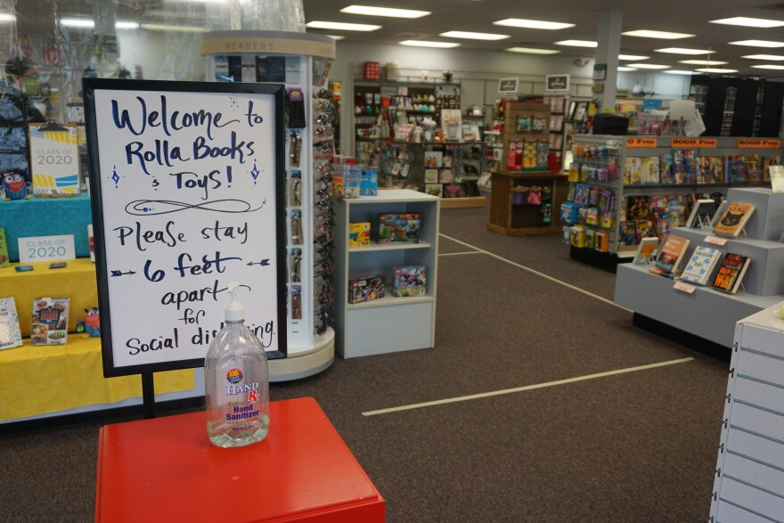 Rolla Books and Toys repopened under new rules from the city to help protect workers and customers from coronavirus. 05-13-20