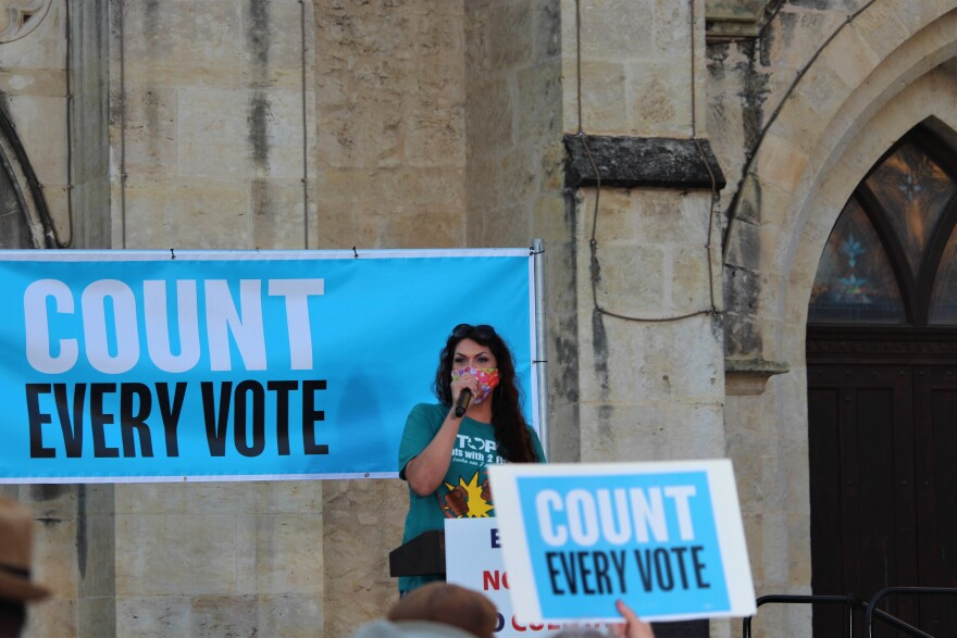 Voting rally
