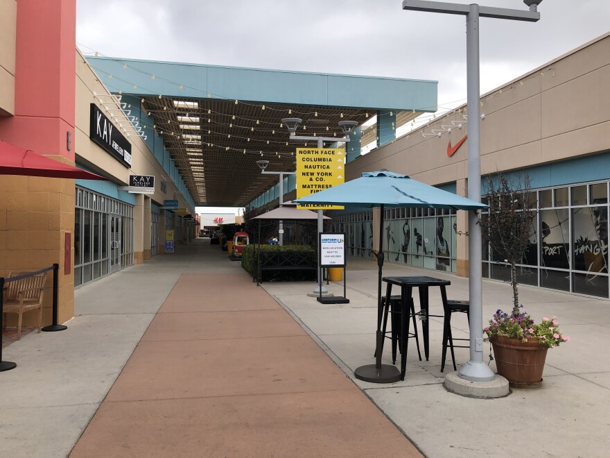 Outlet Shoppes at El Paso Mall hosts few shoppers the Friday morning after the mass shooting.