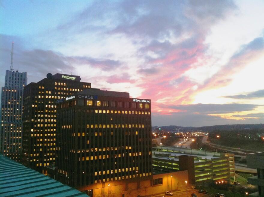 Akron aet sunset