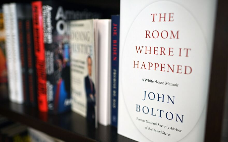 Copies of <em>The Room Where it Happened,</em> a memoir by former national security adviser John Bolton, are seen at a Barnes & Noble bookstore in Glendale, Calif., in June.