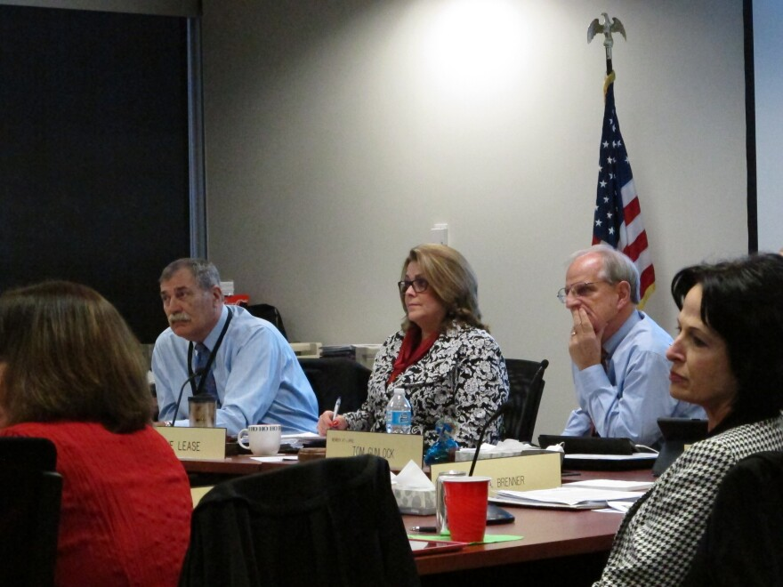 Superintendent Richard Ross and others at Tuesday's school board meeting.