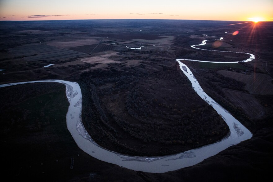 A 2014 file photo of the White River in South Dakota near where the Keystone XL pipeline would have passed. President Biden plans to block the pipeline in one of his first acts of office.