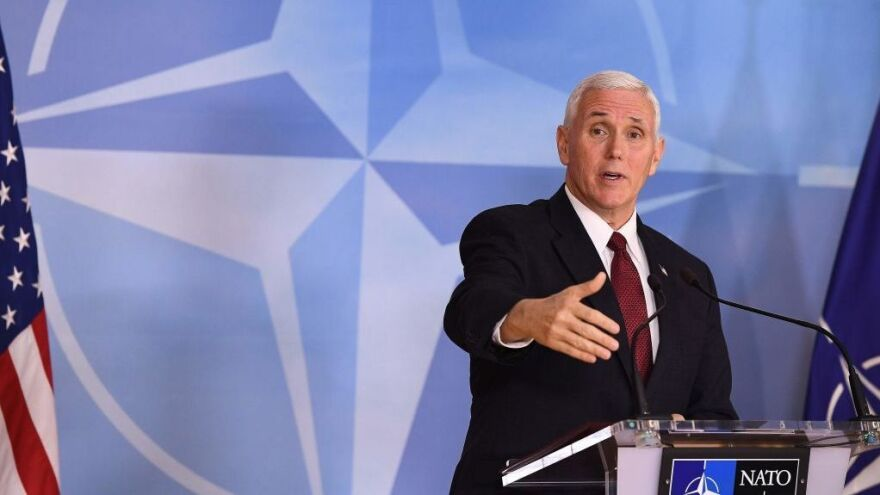 Speaking at NATO headquarters Monday, Vice President Pence addressed the ousting of Michael Flynn and attempted to assuage fears that the United States might not uphold its commitments to NATO under President Trump.