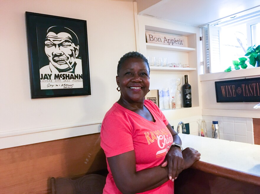 "Wanda Taylor used money she would have otherwise spent on travel, restaurants and live entertainment to redo her basement. ""It's just a sweet place for me,"" she says."