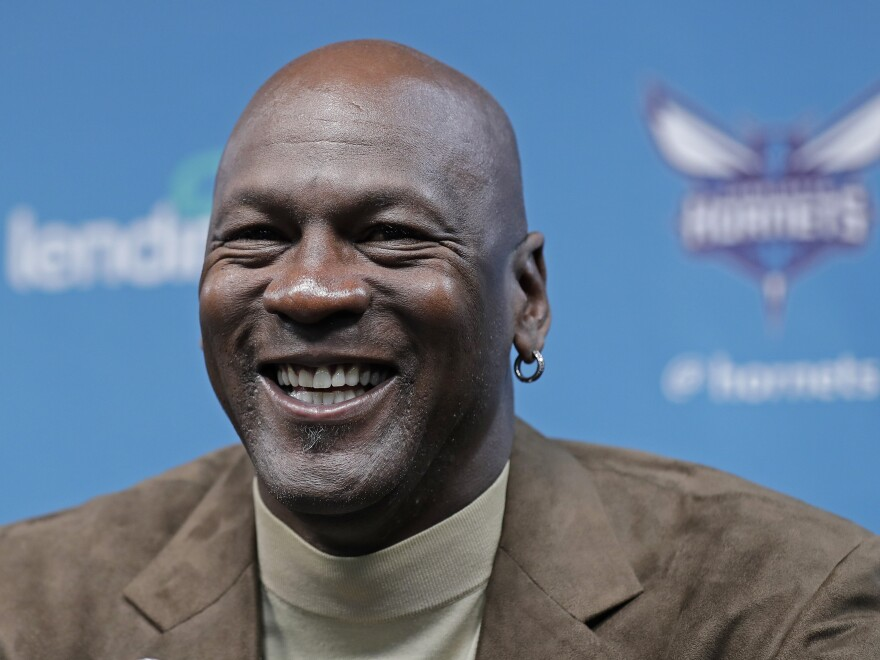 NBA icon Michael Jordan, shown here speaking at a press conference last year,  said he is forming a new NASCAR racing team and Bubba Wallace will be the driver.