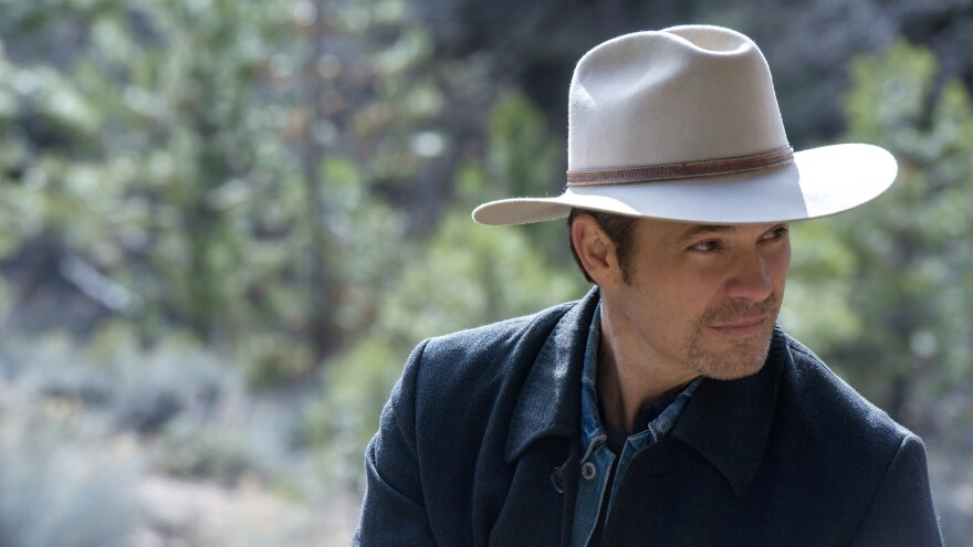 Timothy Olyphant plays Deputy U.S. Marshal Raylan Givens on FX's <em>Justified.</em> The series finale airs tonight.