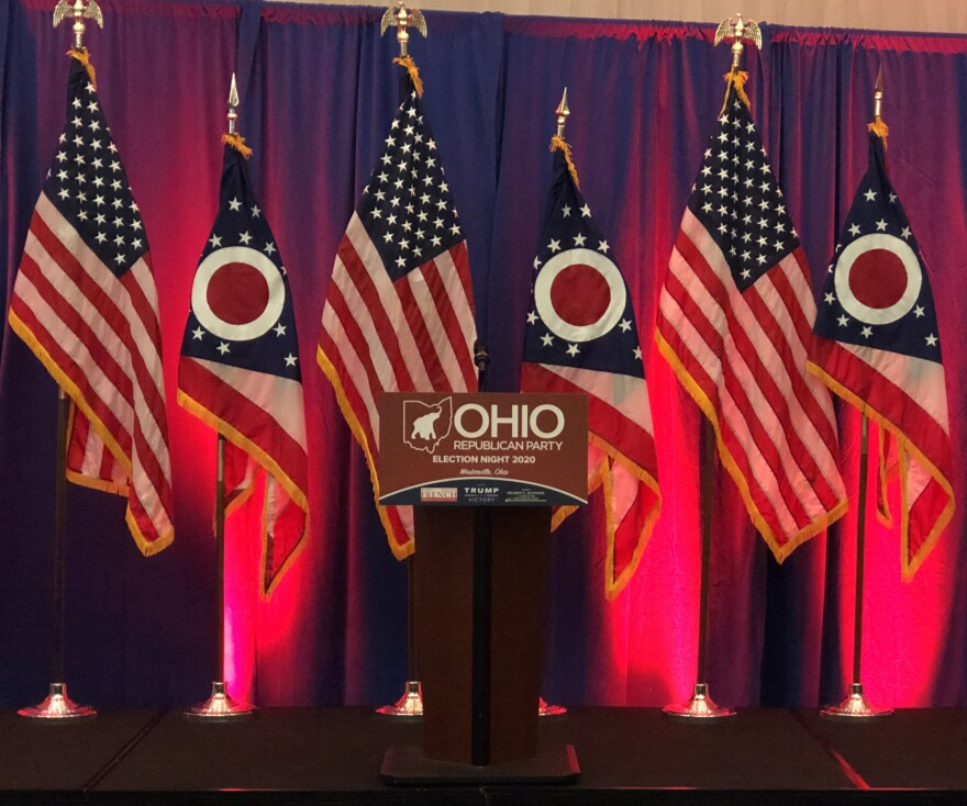 Ohio Republican Party election night stage, November 2020