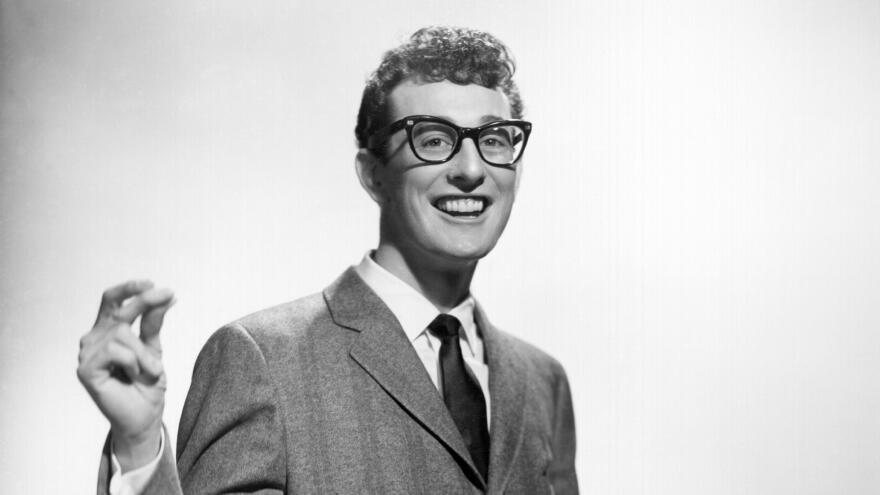 Buddy Holly poses for a portrait circa 1958. On the 60th anniversary of his death, Holly's Lubbock, Tx. classmates remember the young talent.