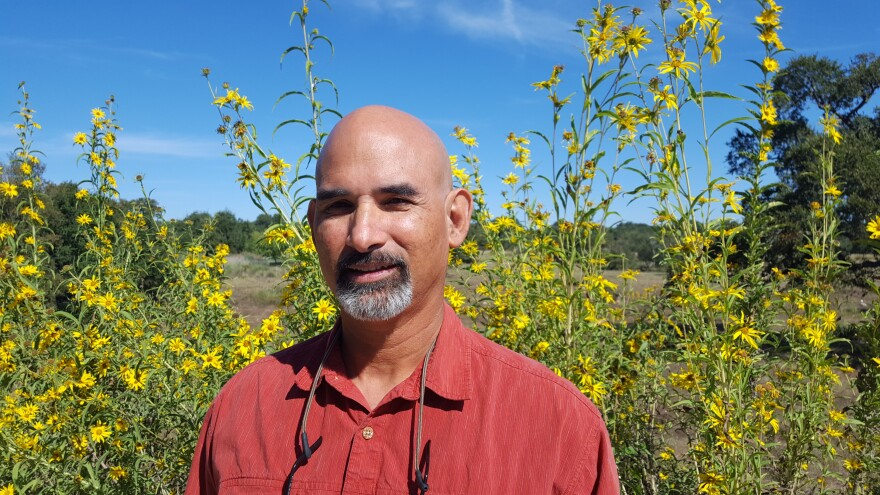 Hans Landel manages the Invassive Species program at the Lady Bird Johnson Wildflower Center.