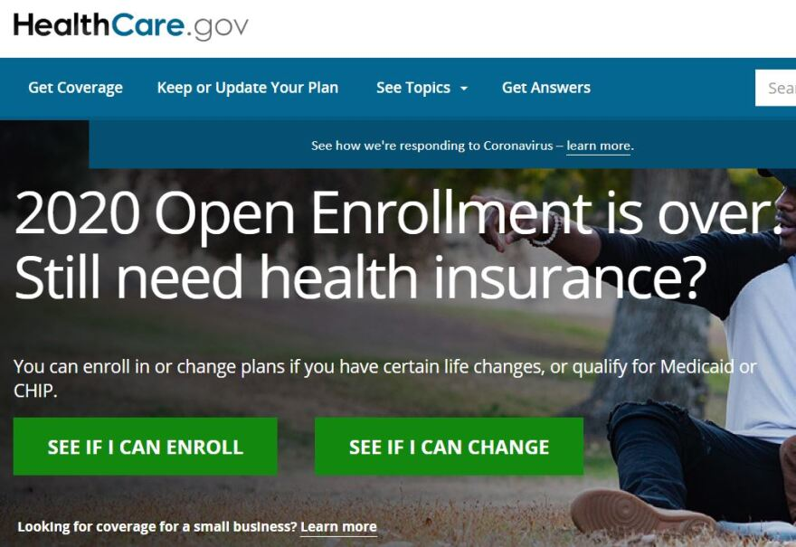Affordable Care Act web page